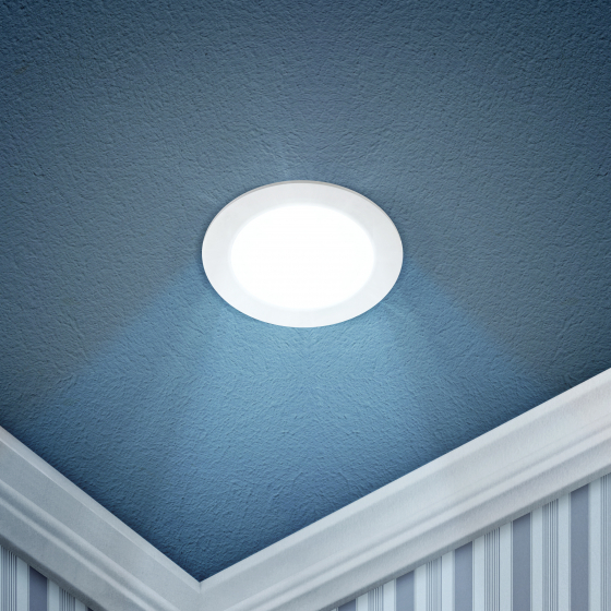 LED 1-6-6K Светильник ЭРА светодиодный круглый LED 6W  220V 6500K (40/1120)