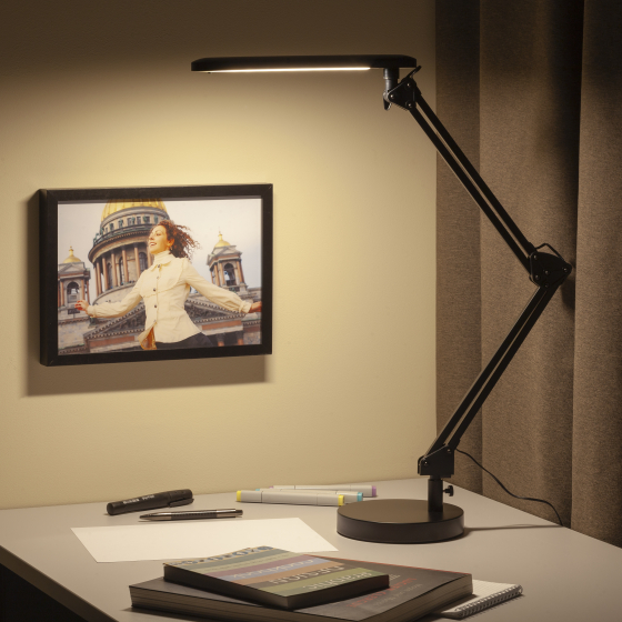 ЭРА наст.светильник NLED-440-7W-BK черный (6/144)
