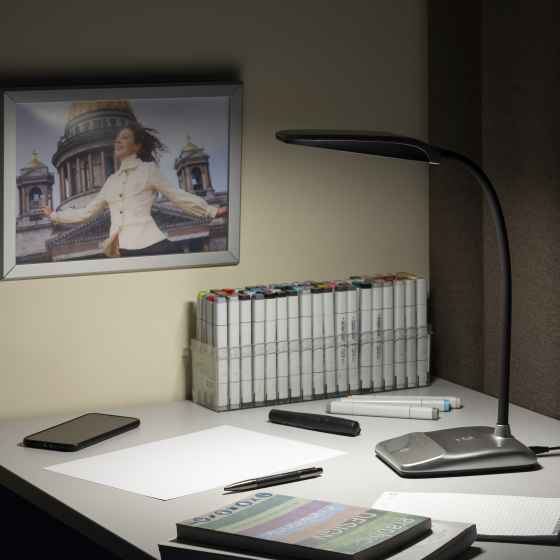 ЭРА наст.светильник NLED-447-9W-S серебро (8/128)
