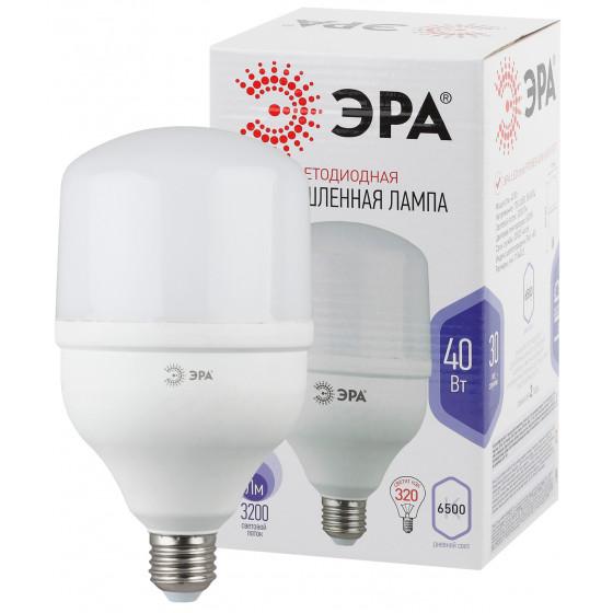 LED POWER T120-40W-6500-E27 ЭРА (диод, колокол, 40Вт, хол, E27) (20/420)