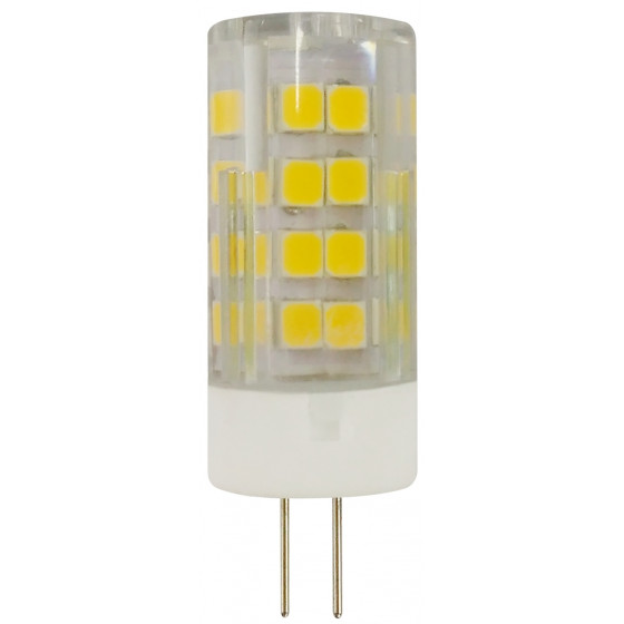 Лампочка светодиодная ЭРА STD LED JC-5W-220V-CER-827-G4 G4 5Вт керамика капсула теплый белый свет