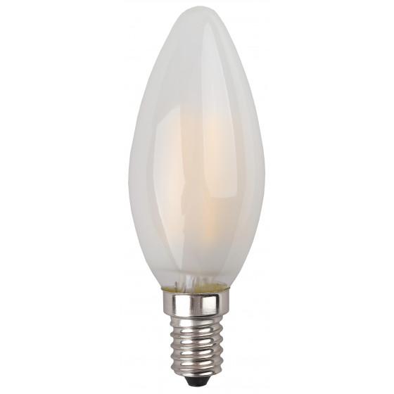 F-LED B35-7W-827-E14 frost ЭРА (филамент, свеча мат., 7Вт, тепл, E14) (10/100/3500)
