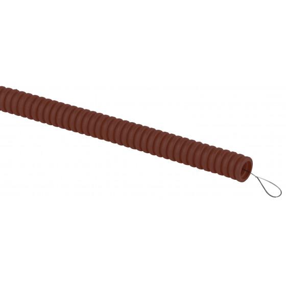ЭРА Труба гофрированная ПВХ (дуб) d 16мм с зонд. легкая 25м (60)