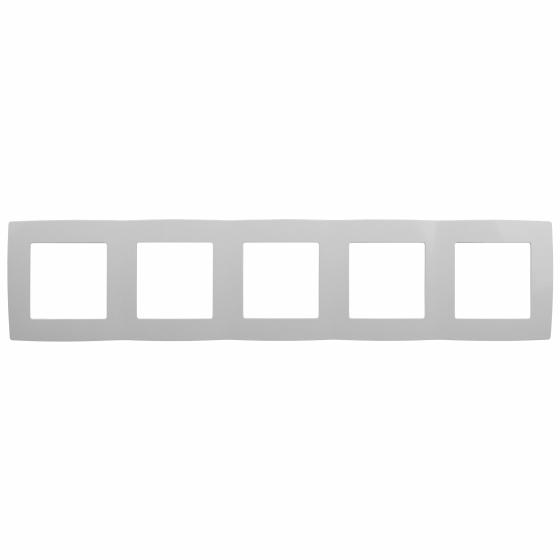 12-5005-01 ЭРА Рамка на 5 постов, Эра12, белый (10/100/1600)