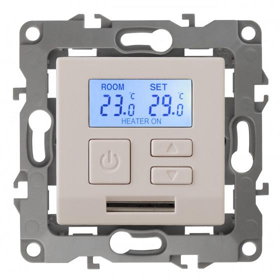 12-4111-02 ЭРА Терморегулятор универс. 230В-Imax16А, IP20, Эра12, слоновая кость (6/60/1200)