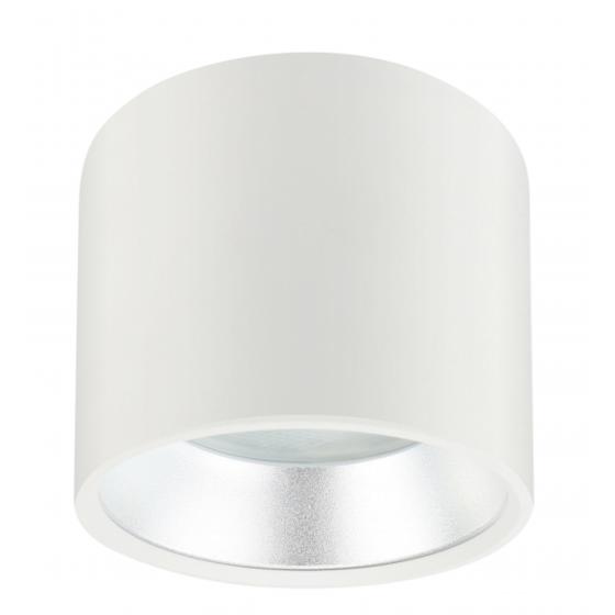 OL8 GX53 WH/SL Подсветка ЭРА Накладной под лампу Gx53, алюминий, цвет белый+серебро (40/800)