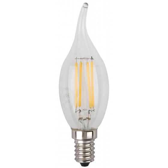 Лампочка светодиодная ЭРА F-LED F-LED BXS-7W-827-E14 Е14 / Е14 7Вт филамент свеча на ветру теплый белый свет