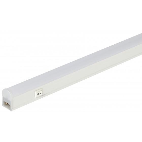 LLED-01-08W-4000-W ЭРА Линейный светодиодный светильник с выключателем  8Вт 4000К L572мм (25/900)