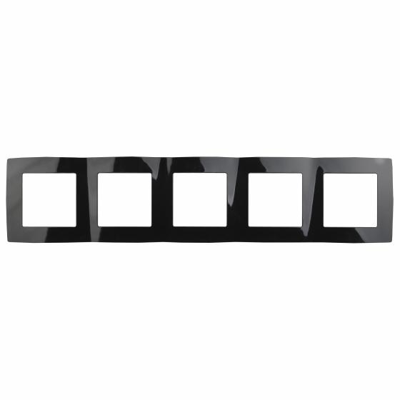 12-5005-06 ЭРА Рамка на 5 постов, Эра12, чёрный (10/100/1600)