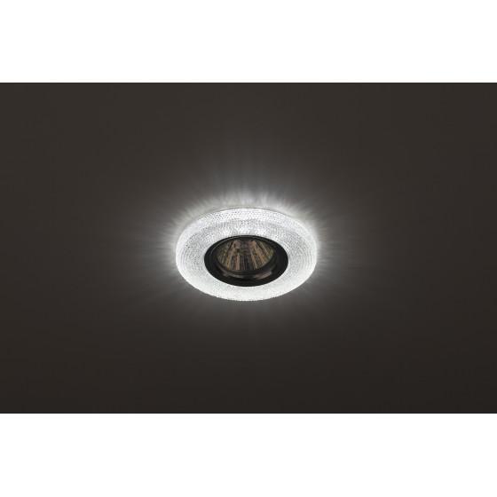 DK LD1 WH Светильник ЭРА декор cо светодиодной подсветкой, прозрачный (50/1750)