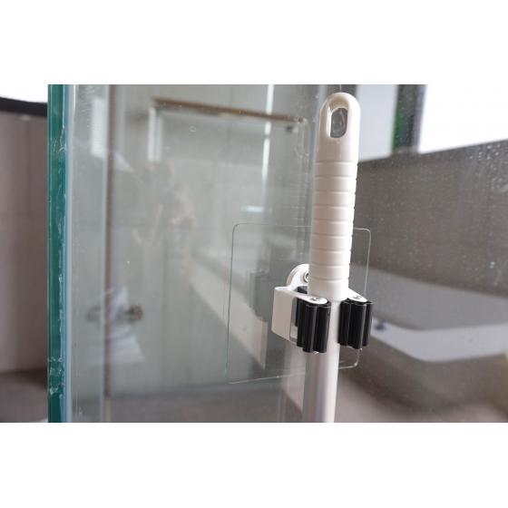 Держатель СИЛА  SSH10-S1S-12 для инвентаря на силиконовом креплении 10х10 см нагрузка 2,5 кг хром серебристый