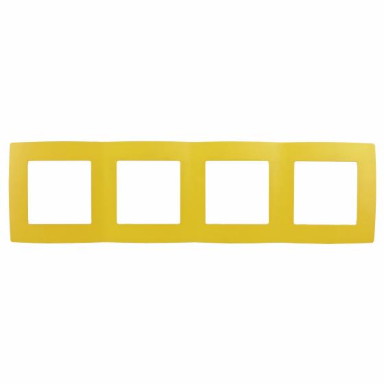 12-5004-21 ЭРА Рамка на 4 поста, Эра12, жёлтый (10/100/2000)