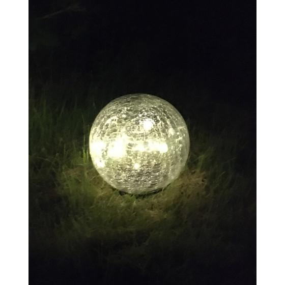 ERASF012-24 ЭРА Садовый светильник Шар на солнечной батарее, 15 LED 15 cм (12/144)