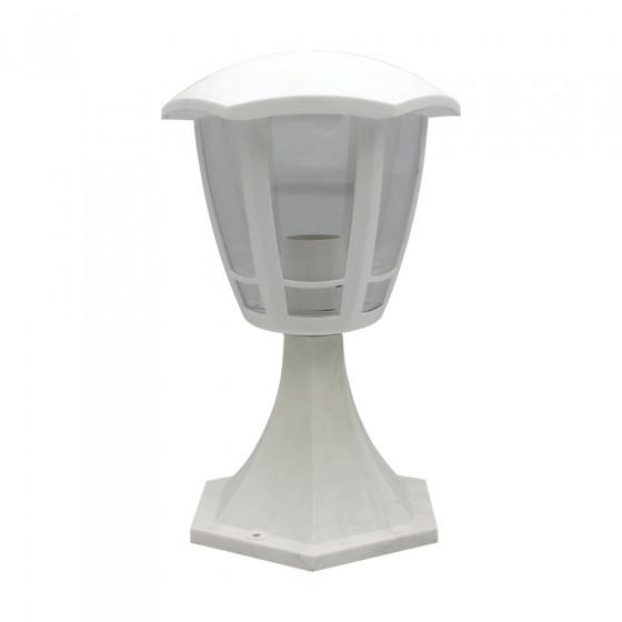 ЭРА Светильник садово-парковый 6гран белый напольный 29см E27 IP44(У1) НТУ 07-40-003 «Валенсия 1» (8