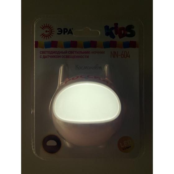 ЭРА ночник NN-604-LS-W белый (42/84/1008)