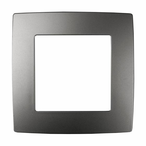 12-5001-12 ЭРА Рамка на 1 пост, Эра12, графит (20/200/5000)