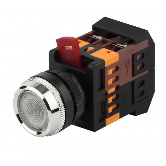 ЭРА Кнопка ABLFS-22 белый d22мм неон/240В 1з+1р (10/400/3200)