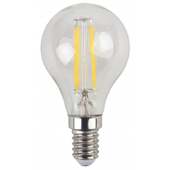 F-LED P45-5W-840-E14 ЭРА (филамент, шар, 5Вт, нейтр, E14) (25/50/3000)