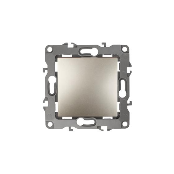 12-1001-04 ЭРА Выключатель, 10АХ-250В, IP20, без м.лапок, Эра12, шампань (10/100/2500)