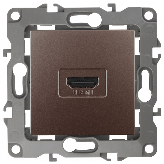 12-3114-13 ЭРА Розетка HDMI, IP20, Эра12, бронза (10/100/3200)