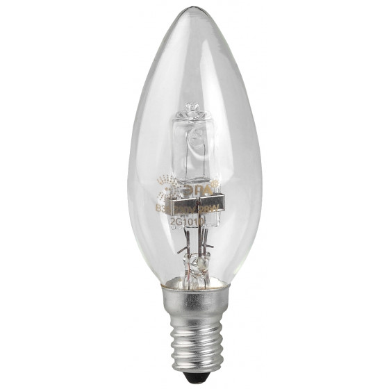 HAL-B35-42W-230V-E14-CL ЭРА (галоген, свеча, 42Вт, нейтр, E14) (100/6000)