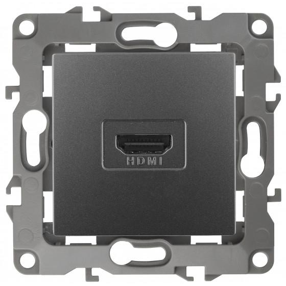 12-3114-12 ЭРА Розетка HDMI, IP20, Эра12, графит (10/100/3200)