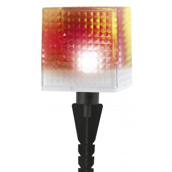 L-PL20-СUB ЭРА Садовый светильник на солнечной батарее, пластик, прозрачный, черный, 20 см (24/648)