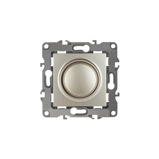 12-4101-04 ЭРА Светорегулятор поворотно-нажимной, 400ВА 230В, IP20, Эра12, шампань (6/60/1440)