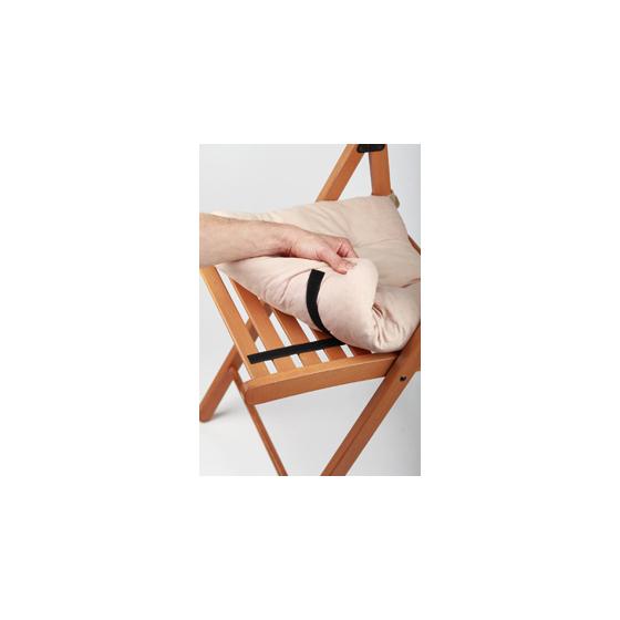 THL72-07 СИЛА Самоклеющаяся лента-липучка 19мм*46см (чёрная) (24/288/1152)