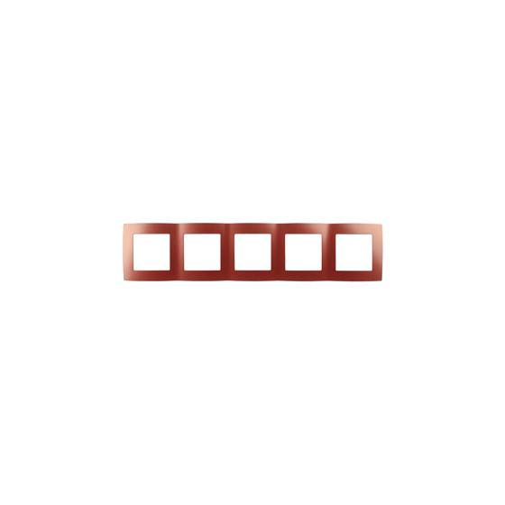 12-5005-24 ЭРА Рамка на 5 постов, Эра12, охра (10/100/1600)