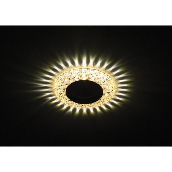 DK LD4 CHP/WH Светильник ЭРА декор cо светодиодной подсветкой MR16, шампань (50/1400)