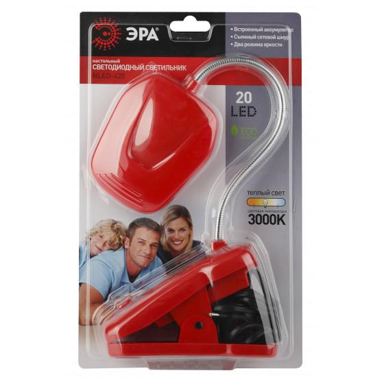 ЭРА наст.светильник NLED-420-1.5W-R красный (10/40/320)