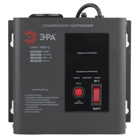 СННТ-1000-Ц ЭРА Стабилизатор напряжения настенный, ц.д., 140-260В/220/В, 1000ВА (4/72)