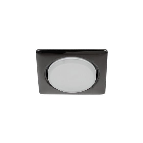 KL71 BK Светильник ЭРА под лампу Gx53 квадр.,220V, 13W,черный металл (40/1120)