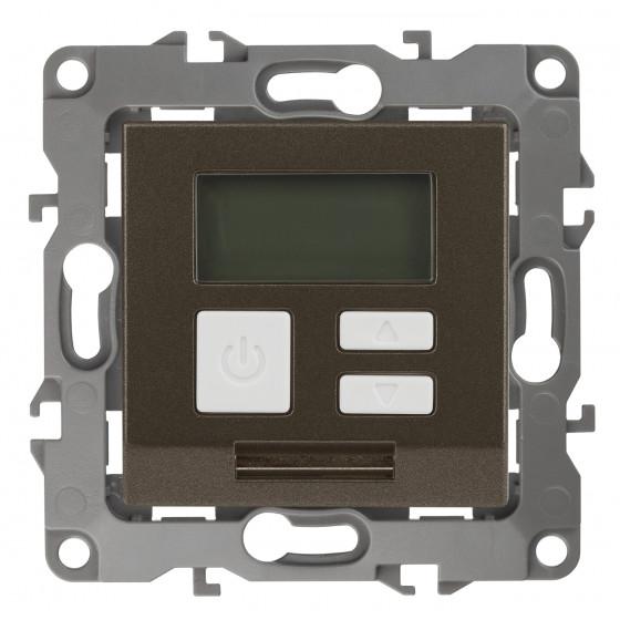12-4111-13 ЭРА Терморегулятор универс. 230В-Imax16А, IP20, Эра12, бронза (6/60/1200)