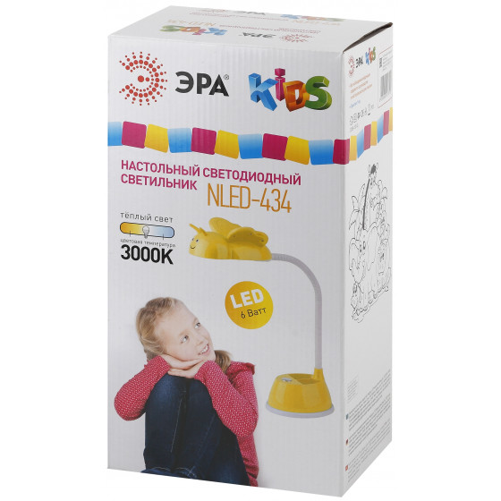 ЭРА наст.светильник NLED-434-6W-Y желтый (16/96)