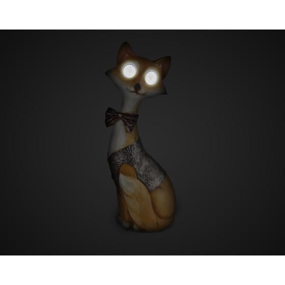 SL-RSN32-FOX ЭРА Садовый светильник на солнечной батарее, полистоун, цветной, 32 см (8/96)
