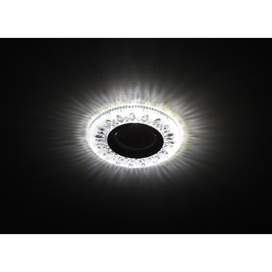 DK LD9 SL/WH Светильник ЭРА декор cо светодиодной подсветкой MR16, прозрачный (50/1400)