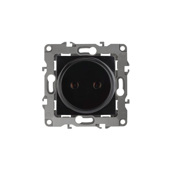 12-2105-06 ЭРА Розетка 2P, 16A-250В, IP20, Эра12, чёрный (10/100/3200)
