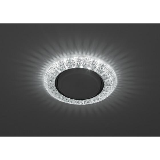 DK LD22 SL/WH Светильник ЭРА декор cо светодиодной подсветкой Gx53, прозрачный (50/800)
