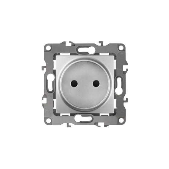 12-2105-03 ЭРА Розетка 2P, 16A-250В, IP20, Эра12, алюминий (10/100/3200)