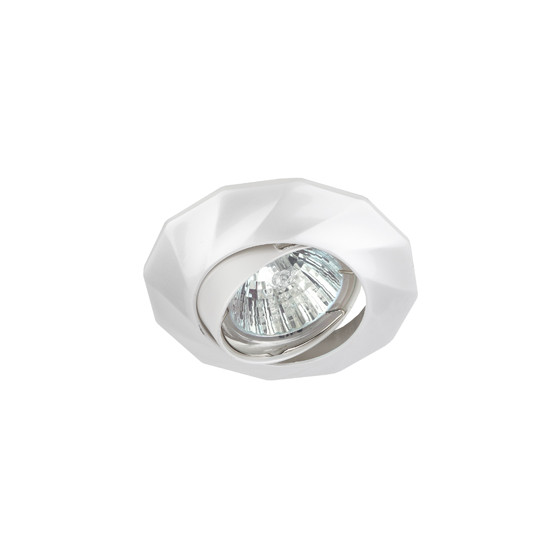 KL65A PS Светильник ЭРА литой пов. MR16,12V/220V, 50W перламутровое серебро (100/2100)