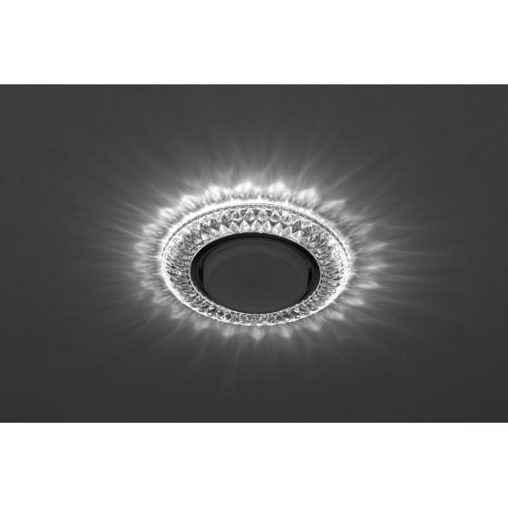 DK LD23 SL/WH Светильник ЭРА декор cо светодиодной подсветкой Gx53, прозрачный (50/800)