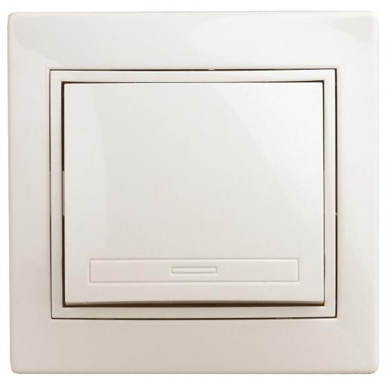 1-101-02 Intro Выключатель, 10А-250В, IP20, СУ, Plano, сл.кость (10/200/2400)