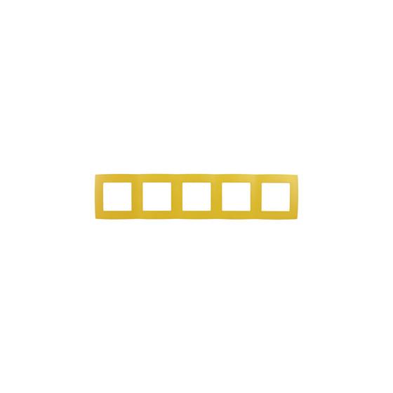 12-5005-21 ЭРА Рамка на 5 постов, Эра12, жёлтый (10/100/1600)
