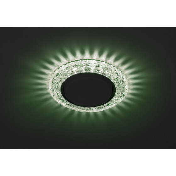 DK LD24 GR/WH Светильник ЭРА декор cо светодиодной подсветкой Gx53, зеленый (50/1000)