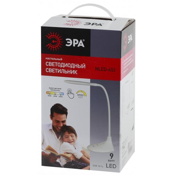 ЭРА наст.светильник NLED-452-9W-BK черный (8/128)