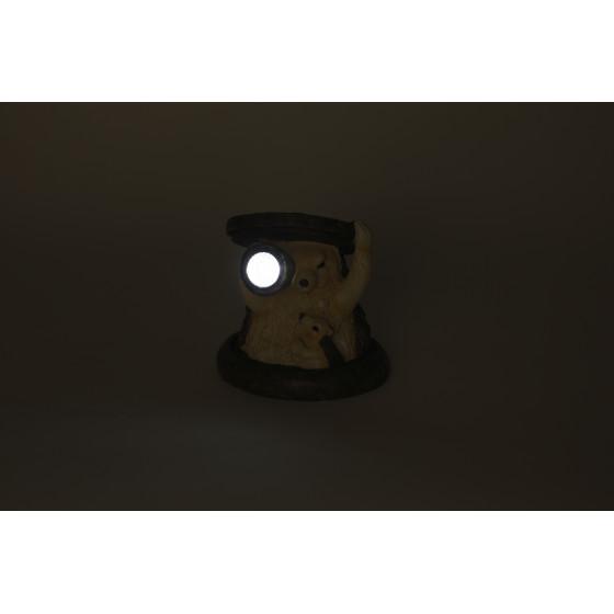 SL-RSN11-HDG2 ЭРА Садовый светильник на солнечной батарее, полистоун, цветной, 11 см (48/384)