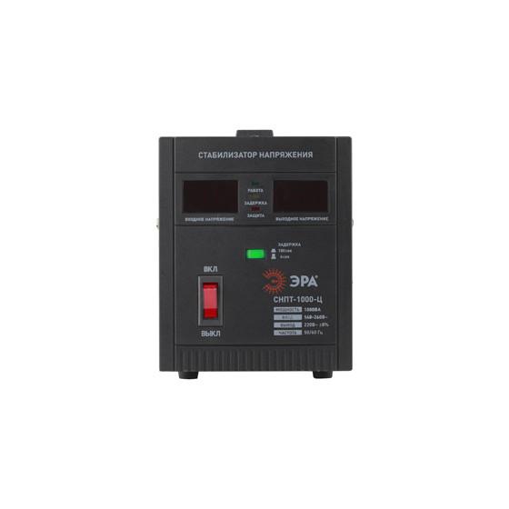 СНПТ-1000-Ц ЭРА Стабилизатор напряжения переносной, ц.д., 140-260В/220/В, 1000ВА (4/96)