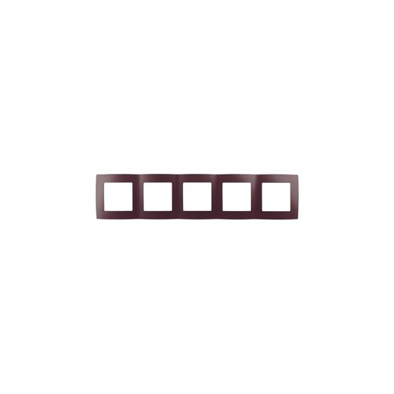 12-5005-25 ЭРА Рамка на 5 постов, Эра12, бордо (10/100/1600)